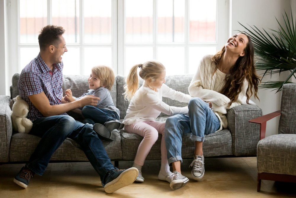 family at home breathing indoor air