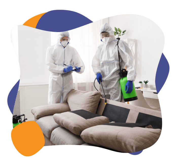 Enviropure home cleaning specialists disinfect a home for COVID-19