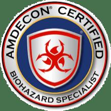 amdecon certified biohazard specialist logo
