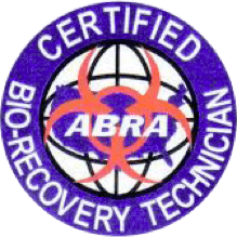 ABRA - certified bio-recovery technician logo
