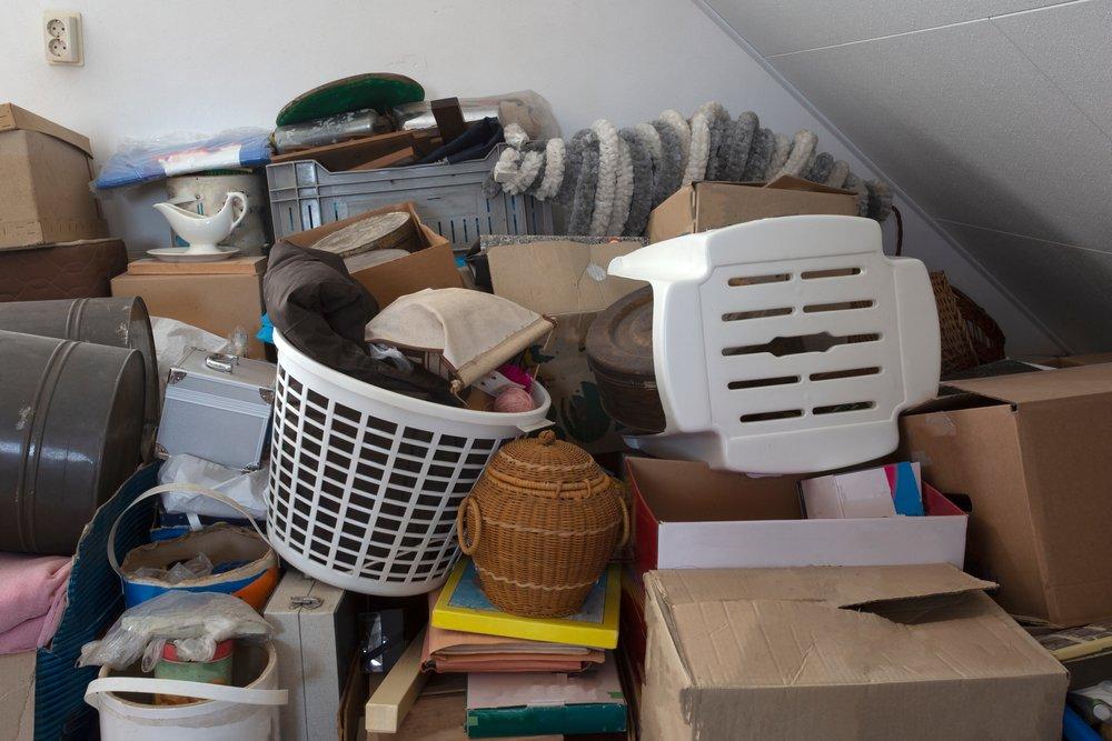 hoarding mess in house