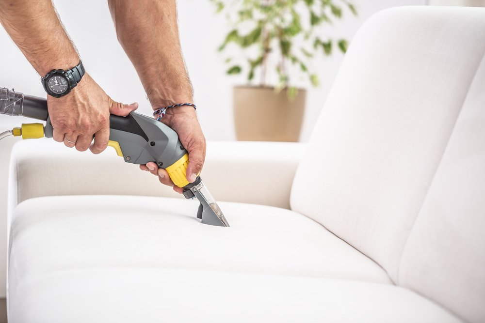 deep cleaning a sofa